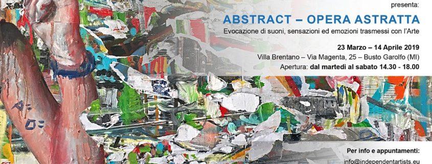 Independent Artists Mostra Villa Brentano 2019 arte astratta