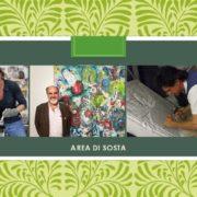 Julia Landrichter Massimo Podestà e Mauro Vaccai mostra Area di sosta Picciorana