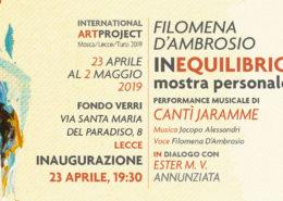 Filomena d'Ambrosio - mostra Equilibrio - Lecce