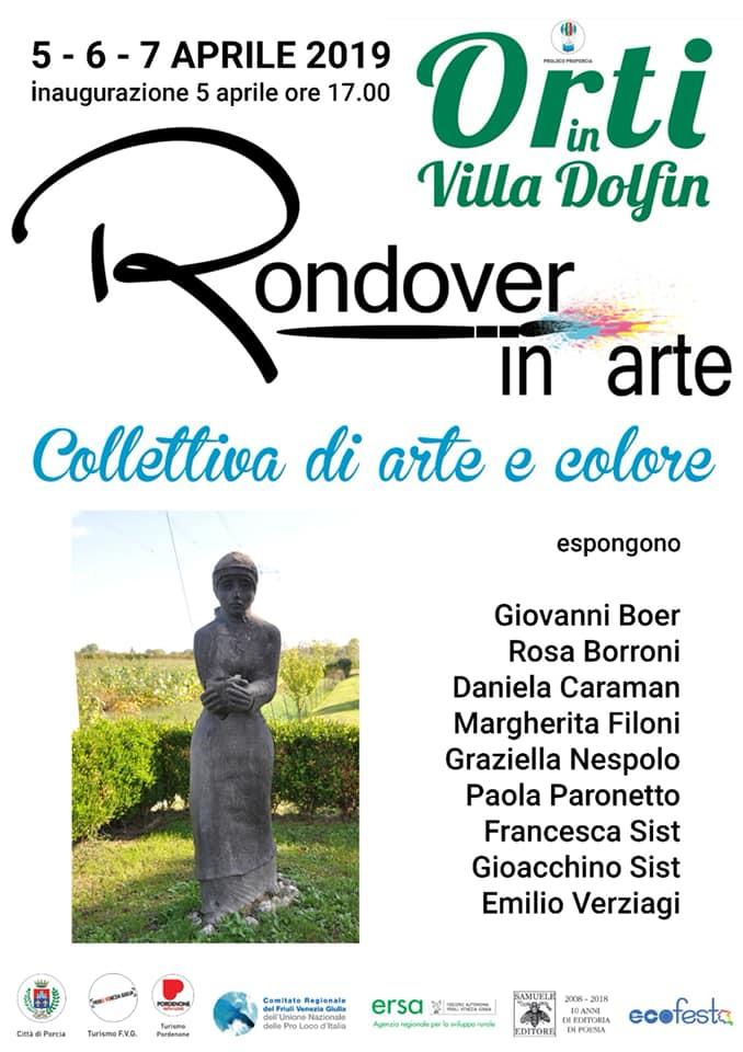 Mostra a Porcia Orti in Villa Dolfin Rondover in Arte
