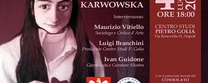 Barbara Karwowska Napoli Centro Studi Pietro Golia mostra arte Le fiebe del centrino