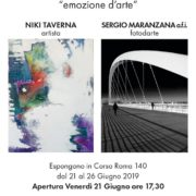 Niki Taverna e Sergio Maranzana mostra Alessandria Corso Roma