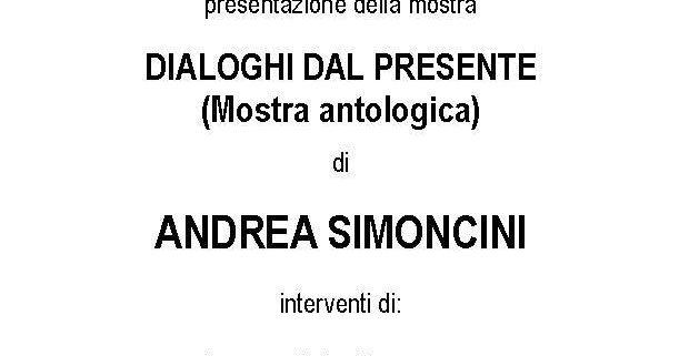 Andrea Simoncini Mostra antologica Giubbe Rosse Firenze
