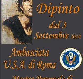 Davide Robert Ross mostra Roma Ambasciata Americana