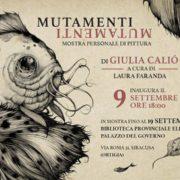 Giulia Caliò - Mutamenti - Siracusa