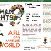HUMAN RIGHTS #CLIMA ART CAN SAVE THE WORLD Rovereto Aiapi