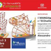 Alessandro Grazi Artista Inaugurazione sculture MANGIAplastica e ECOvallo Siena