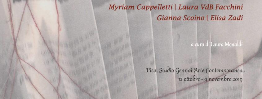 Myriam Cappelletti Laura VdB Facchini Gianna Scoino Elisa Zadi Pisa Studio Gennai