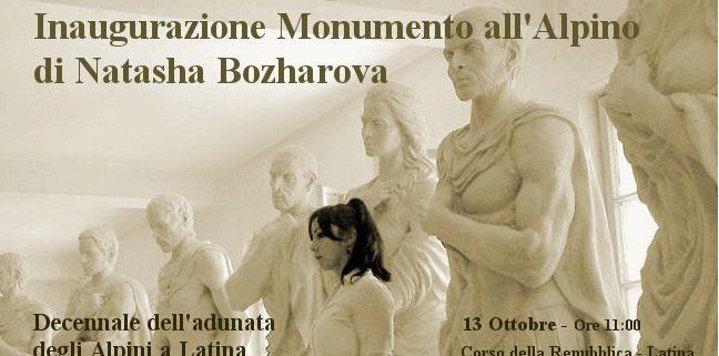 Natasha Bozharova - Una scultura per omaggiare gli Alpini - Latina