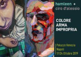Pittura Arma Impropria - Ciro D'Alessio e Hamleen - Napoli Palazzo Venezia