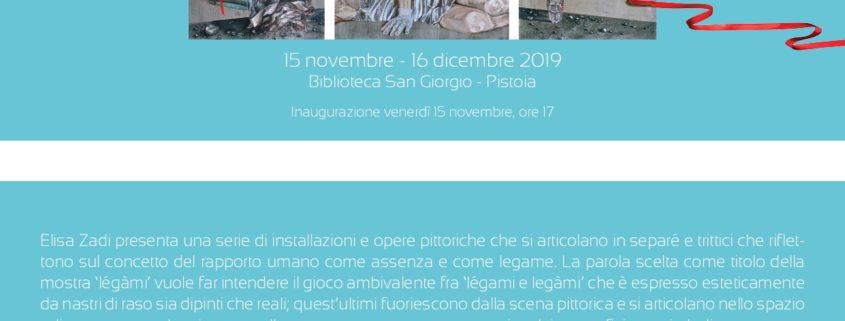 Elisa Zadi LèGàMI - Biblioteca San Giorgio - Pistoia