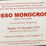 Rosso monocromo - tributo ad Yves Klein - Arte In Regola - Roma