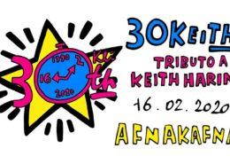 tributo a Keith Haring - galleria Afnakafna - Roma