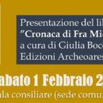 Cronaca di Fra Michele Minorita nuova presentazione a Soriano nel Cimino