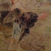 VINCENZO IROLLI Bimba con tacchino (1930)