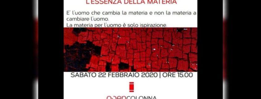 Anna Maria Maciechowska - L_essenza Della Materia - Opencolonna - Milano