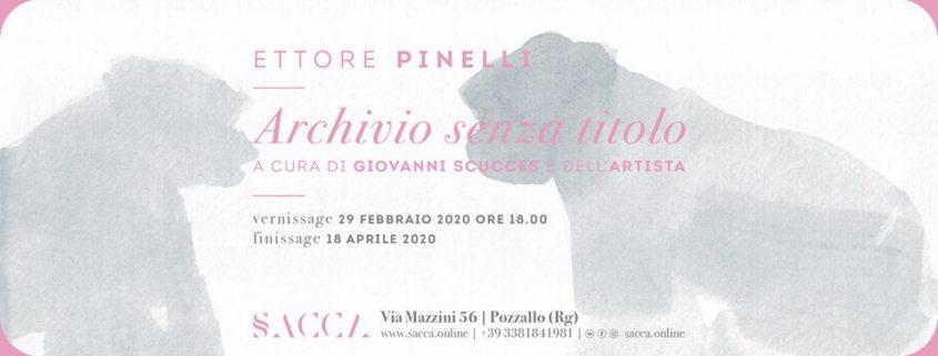 Ettore Pinelli - Archivio senza titolo - SACCA gallery - Pozzallo