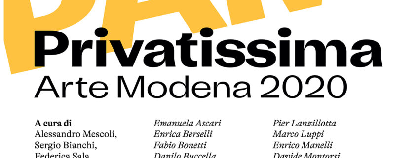 PAM! - PRIVATISSIMA - Arte Modena 2020